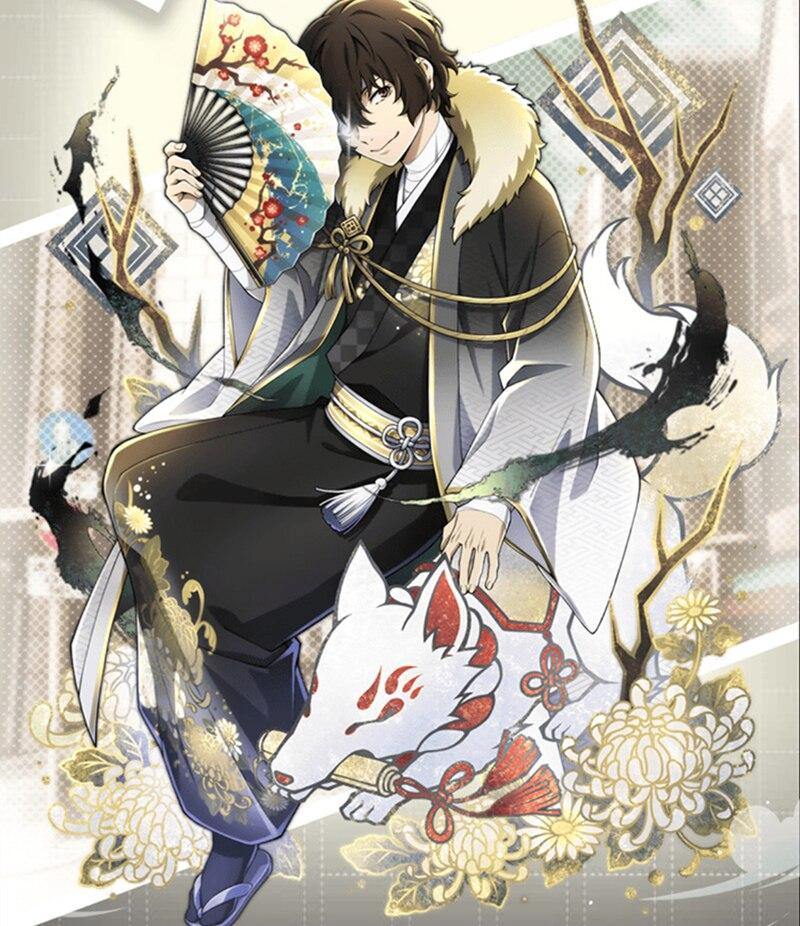 Herren Manga Bungo Stray Dogs Cosplay Nakahara Chuya Samurai Uniform Kostüme