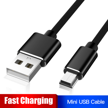 Robotsky Mini USB Cable Mini USB to USB Fast Charging Data Cable for MP3 MP4 Player Car DVR GPS Digital Camera HDD Mini USB image