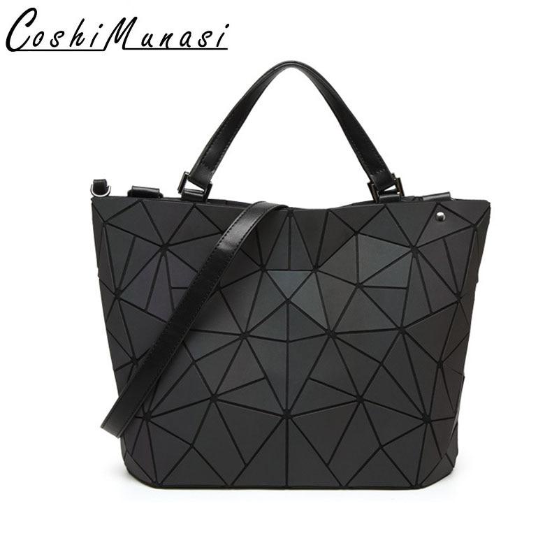 Women Handbags Luxury Designer Punk style Fashion Shoulder Bag Triangle Luminous Tote Folding Crossbody Bag Matte Texture PurseShoulder Bags   -