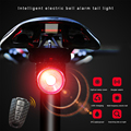 USB Charge Bicycle Rear Light+Anti-theft Alarm Bell Wireless Remote Control LED Taillight Bike Finder Lantern Horn Siren Warning