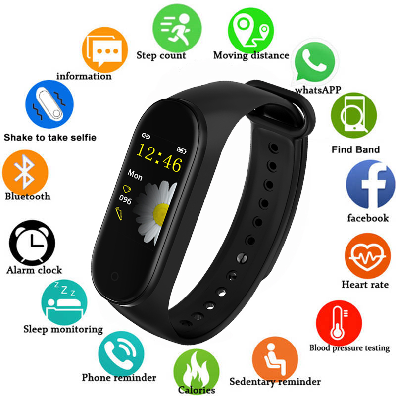 M4 Smart Band Wristband Heart Rate/Blood/Pressure/ Smart Bracelet Monitor/Pedometer Fitness Waterproof Color Screen V5.0