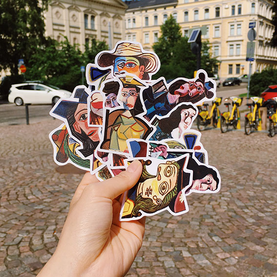12PCS Picasso Suitcase Sticker Refrigerator Guitar Notebook Ipda Waterproof Sticker Children Sticker