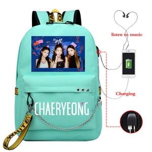 Женский рюкзак с принтом Mochila Feminina Kpop ITYZ CHAERYEONG, рюкзак с usb-зарядкой для ноутбука 2020, Школьный Рюкзак Для Путешествий