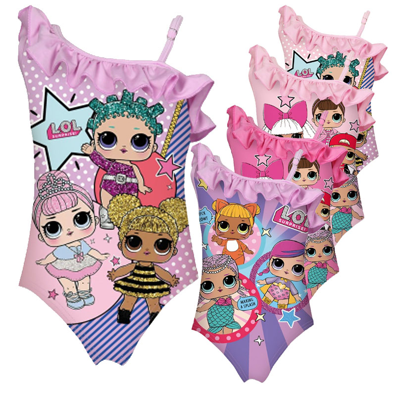 Explosion Models Surprise Cartoon Girls Colorful Dolls Children Lol Swimwear Girl Big Eye Doll Piece Clothes Swimming Clothes