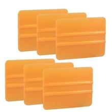 EHDIS 6pcs Carbon Fiber Sticker Install Plastic Scraper Vinyl Car Film Wrapping Squeegee Water Wiper Cleaning Window Tint Tools