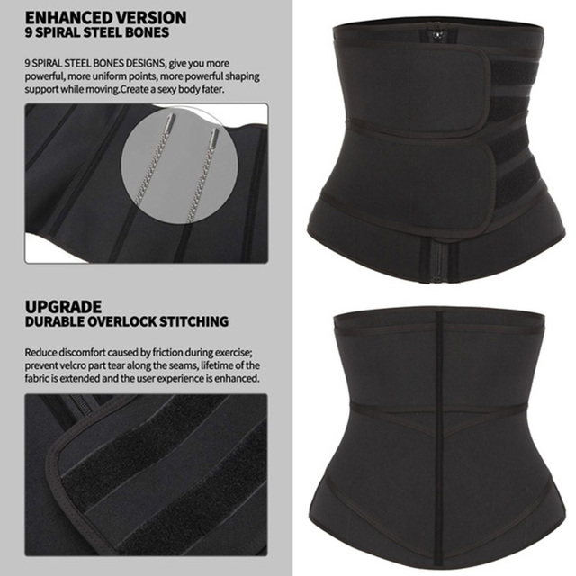 Slimming Neoprene Sauna Waist Trainer Corset Sweat Belt for Women Weight Loss Compression Trimmer Workout Fitness Waist Trainer 3