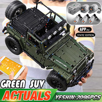 Yeshin 20090 Technic Car The Lepining MOC 5140 Jeeped Wranglers Rubicon App RC Car Model Toys Kid Christmas Gift Building Blocks