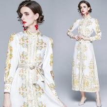 Zuoman для женщин в винтажном стиле; Сезон осень платье с принтом