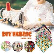 7pcs Flower Printed Cotton Fabrics Diy Assorted Pattern Cotton Cloths Handmade Doll Clothing Needlework Crafts 25*25 Cm #LR4