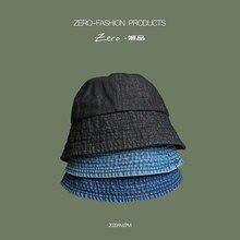 2021 New Foldable Fisherman Hat Washed Denim Bucket Hats Unisex Fashion Bob Caps Hip Hop Gorros Men Women Panama Bucket Cap Gift