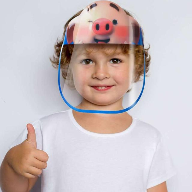 50pcsFull Face Shield Mask Protective Clear Saliva-proof Dust-proof Sun Safety Hat Anti-Virus Face Mask saliva For Children Kids 5