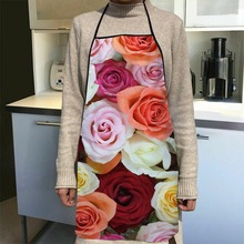 New Arrival Flowers Beautiful Apron Kitchen Aprons For Women Oxford Fabric Cleaning Pinafore Home Cooking Accessories Apron