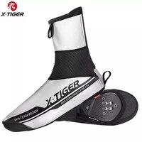 X TIGER reflexivo à prova dwinter água ciclismo capa de sapato inverno bicicleta de estrada ciclismo overshoes velo quente à prova vento mtb sapato capa| |   -