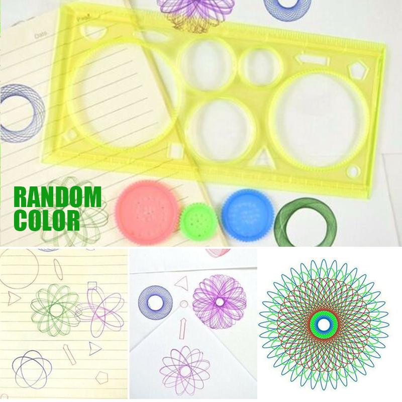Multi-function Puzzle Spirograph Spiral Painting Tool For Drawing Education Student Kid Straight Geometric Straight Ruler Toys