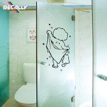 2 шт настенные наклейки для душа наклейки для стеклянных дверей Дети Купание милые водонепроницаемые съемные для детской ванной Декор настенные художественные наклейки