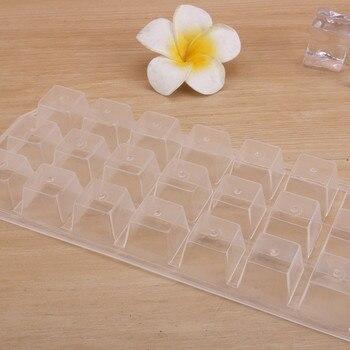 Cubo de hielo de 21 rejillas de plástico grueso de alta calidad, bandeja de hielo para Whisky reutilizable DIY, molde para congelador, accesorios para Bar en casa