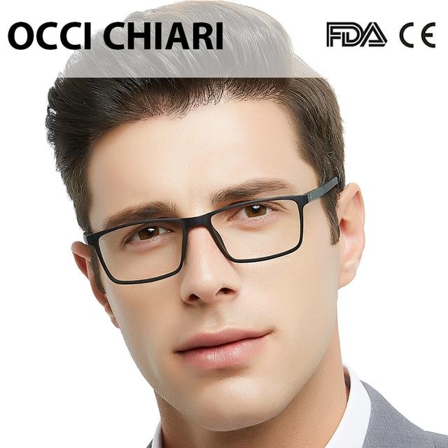 OCCI CHIARI TR90 نظارات إطار الرجال خفيفة نظارات Gafas مكافحة الأشعة الزرقاء الكمبيوتر نظارات جديد المرقعة النظارات البصرية