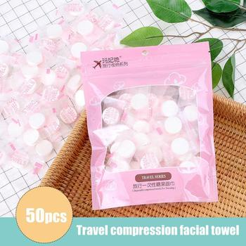 50pcs/lot Magic Tissue Disposable Mini Portable Hand Face Cleaner Care Cotton Compressed Towel For Outdoor Travel