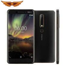 Original nokia 6.1 octa-core 5.5 polegadas 3gb ram 32gb rom 16mp 1080p lte 4g única impressão digital sim desbloqueado celular android
