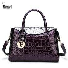 FUNMARDI Brand Crocodile Patchwork Handbag Women Bags Serpentine Designer Shoulder Bag Crossbody Large Ladies Hand WLHB2005