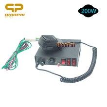 цена на 12V 200W Police Siren 9 Sound Alarm Horn Controlled Switch PA MIC system Loud Speaker Multi-tone Warning Megaphone Warning