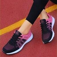 Schuhe für Frauen Turnschuhe 2021 Sommer Frau Casual Sport Schuhe Wohnungen Casual Damen Mesh Licht Atmungsaktiv Pflege Vulkanisieren Schuhe