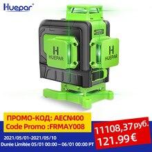 Huepar Niveau Laser 16 Lignes 4D Ligne Croisée Faisceau Vert Avec Batterie Li-ion Multifonction & Télécommande Pour Carrelage
