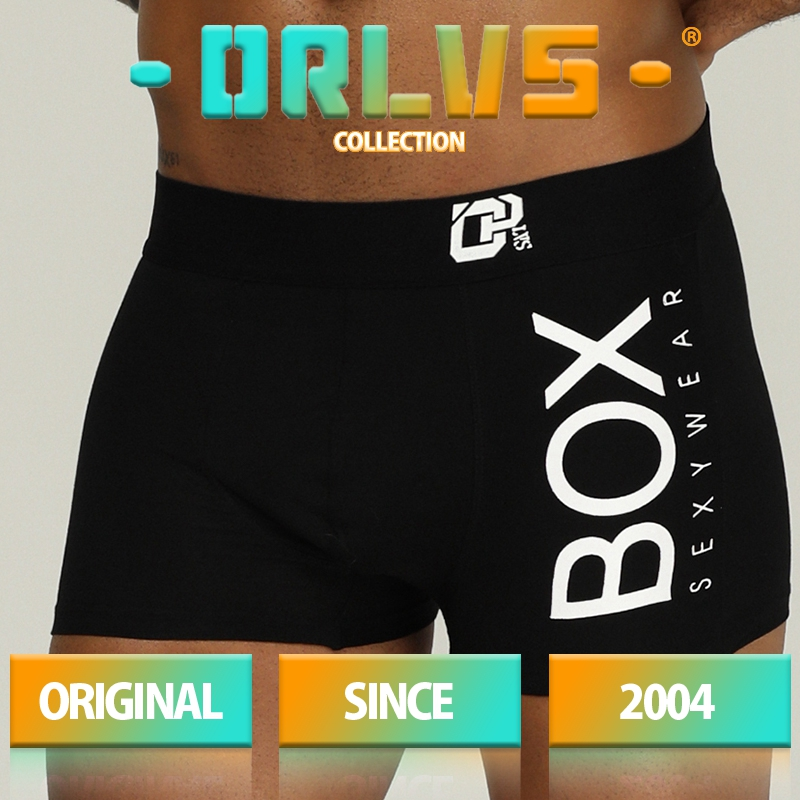 ORLVS Brand Men Underwear Sexy Boxers Cotton Breathable Comfortable Underpants Penis Pouch Male Panties Cueca Tanga Men Shorts