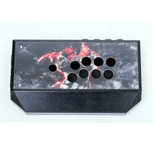 Cdragon Arcade Joystick Clear Black Metal Case Gamepad Video Game controller Joystick Stick Sturdy Construction Easy to Install