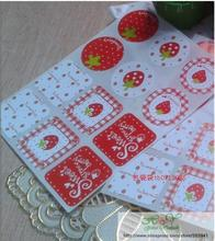 120pcs/pack Sweet Strawberry Sealing Sticker Cake Packaging Sealing Label Candy Color Stickers 90pcs pack for you candy color sealing sticker stationery gift bakery stickers cookies label supply