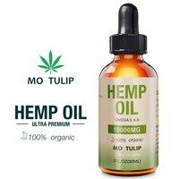 МО тюльпан 30 мл 10000 мг конопли КБР органическое эфирное масло конопляное масло травяные капли масло для снятия стресса уход за кожей помогае...