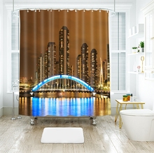 3d European Architecture and Seascape Shower Curtains Waterproof Thickened Bath for Bathroom Customizable
