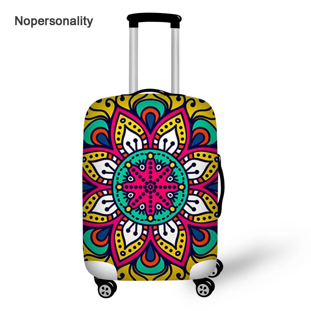 Nopersonality 18-32inch Mandala Style Travel Luggage Covers Elastic Luggage Protective Dust Covers Waterproof Suitcase Protector