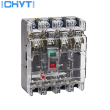 ICHYTI Moulded Case Circuit Breaker MCCB 4P 250A CB single three phase 4 Poles Ground Protector High current