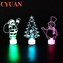 CYUAN 1pcs Christmas Decoration For Home Merry Christmas LED Light Christmas Tree Ornaments