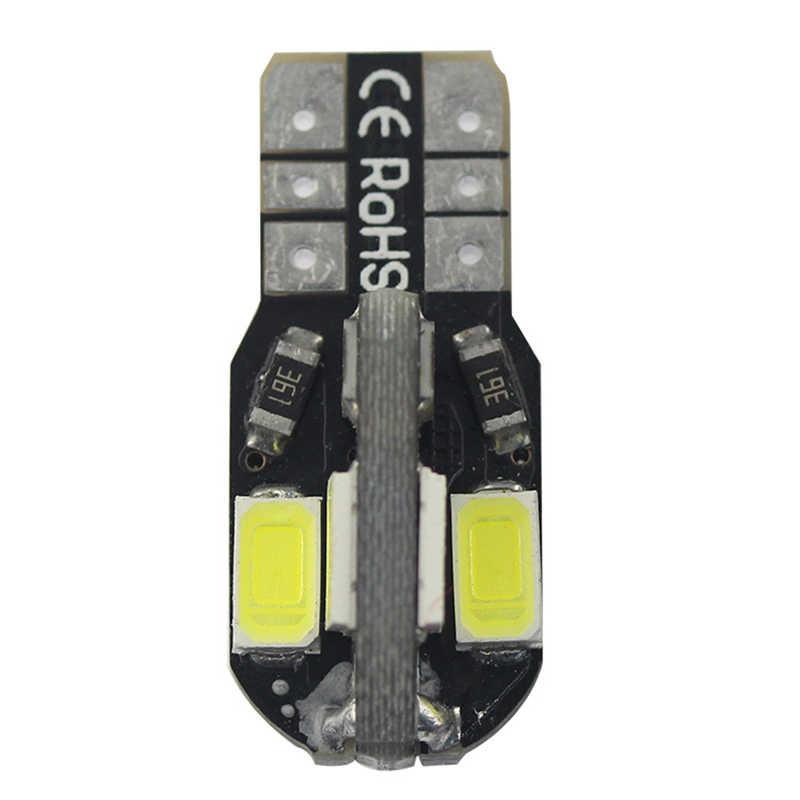1PC T10 LED samochodów lampa szerokokątna Canbus 5730 8SMD12V żarówka LED samochodowa światła boczne biały lightfor tablicy rejestracyjnej oświetlenie wnętrza, do czytania