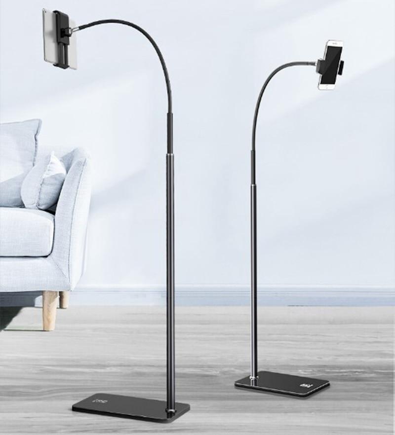 Tablet Mobile Phone Floor Holder Stand Bracket Long Arm 360 Degree Adjustable Live Broadcast Lazy Phone Tablet Stand