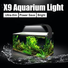 Senzeal X9 Super Slim Aquarium LED Light Bar Clip-on Lighting Plants Grow 15W Freshwater Fish Tank Lamp 220V/110V