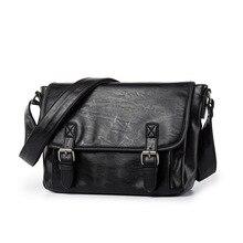 цена на Leather Shoulder Messenger Bag men's Handbag Vintage Crossbody Bag Tote Business Man Leather Messenger Bag