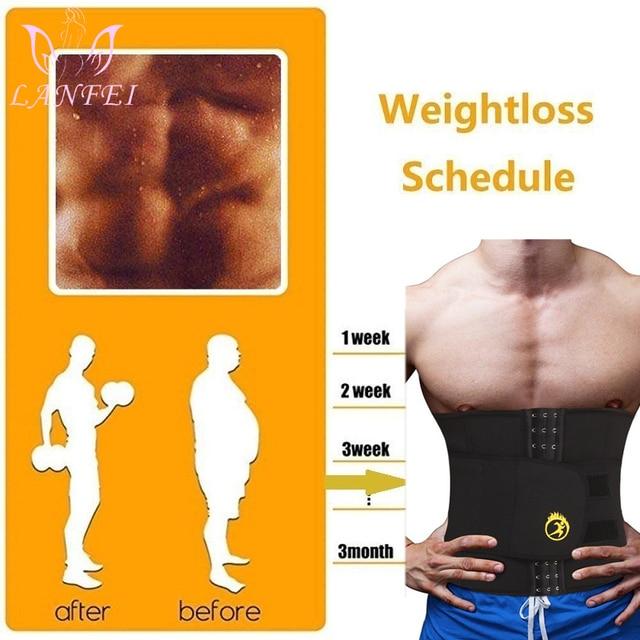 LANFEI Mens Thermo Neoprene Body Shaper Waist Trainer Belts Slimming Corset Waist Support Sweat Underwear Strap Modeling Shapers 1