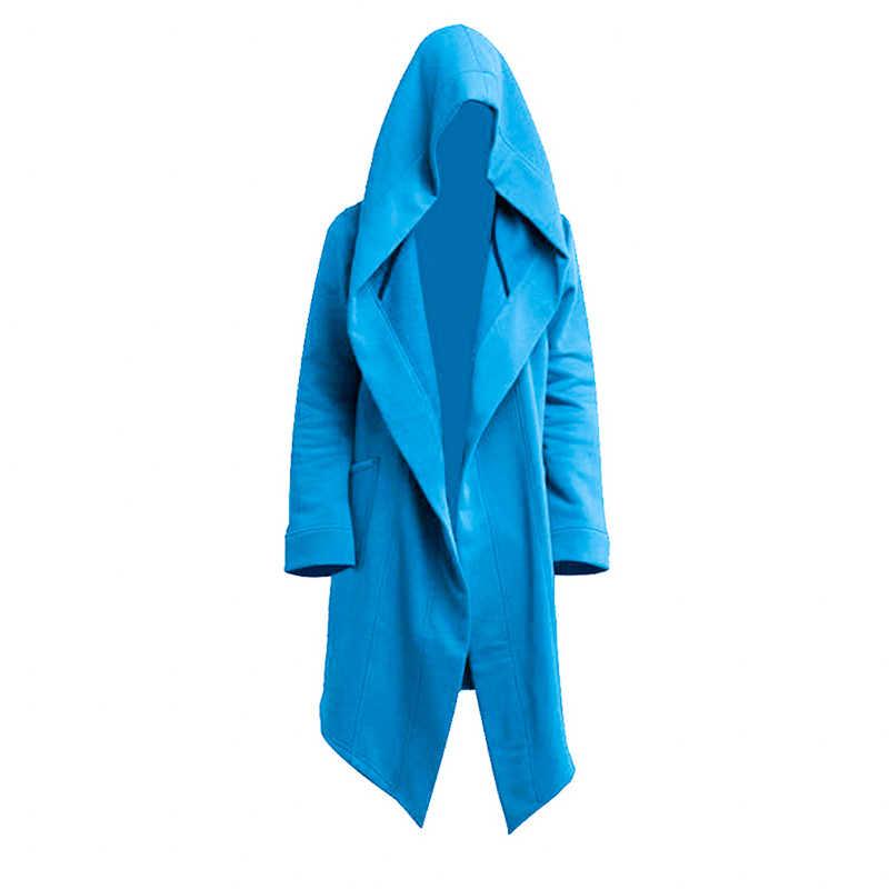 Jodimitty 2020フード付きスウェットメンズ黒ヒップホップマントルパーカーファッションジャケット長袖マントコート生き抜くホット販売