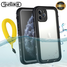 IP68 مقاوم للماء حقيبة لهاتف أي فون 11 برو ماكس 2019 على آيفون 11Pro غطاء مقاوم للماء الغوص خارج الرياضة 360 حماية iPhone11 Coque