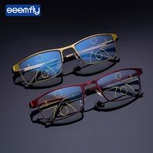 Seemfly Progressive Focus Reading Glasses Myopic Lens Men And Women's Anti-Blue Dual-use Glasses Anti-Radiation Read Glasses цена