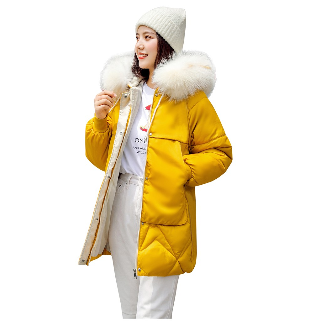New Winter Jacket Women Thick Cotton-padded Casual Coat Ultra Light Down Coat Zippers Long Fashion Warm Soft Female Outwear111#5