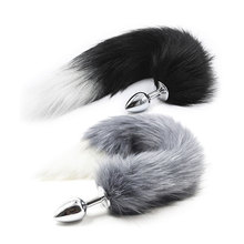 9 Style Fox Tail Butt Plug Toys Erotic Anus Toy Anal Plug Sex Toys For Adults Woman and Men Sexy Metal Butt Plug Sex Games