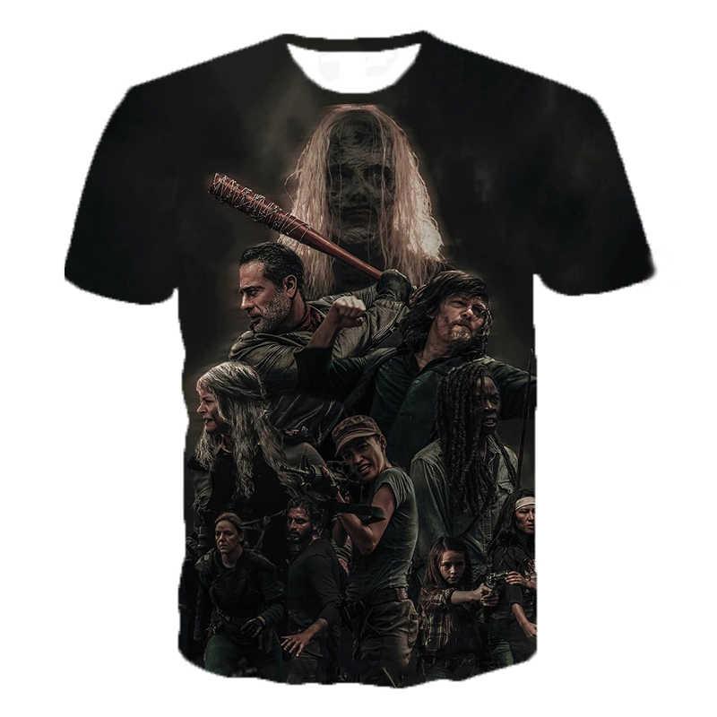 2020 ホラードラマウォーキング 3Dプリントtシャツ男性の女性のファッションカジュアルなtシャツヒップホップストリート特大tシャツトップス