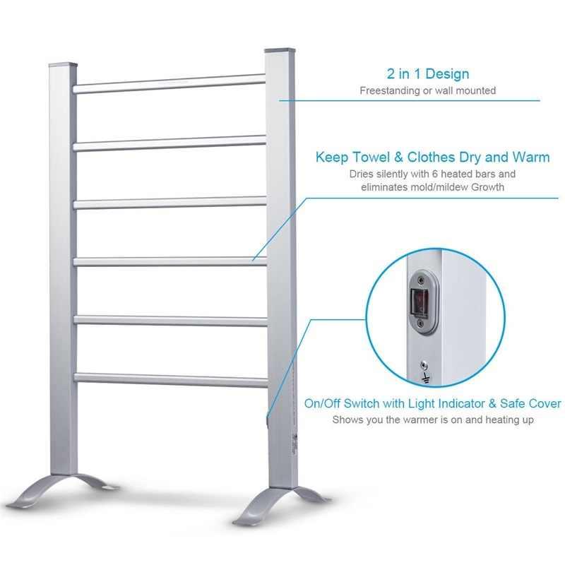 2 In 1 Freestanding Wall Mounted Electric Towel Warmer Hw58872 Towel Warmers Aliexpress