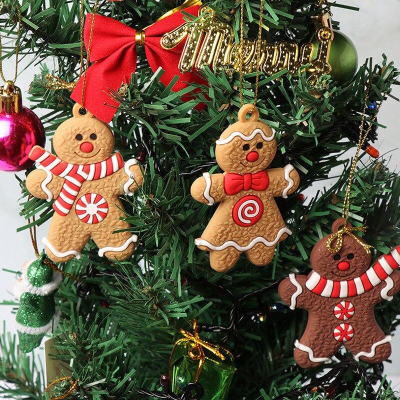 Рождественские Мини-украшения для имбиря, олень, снеговик, рождественская елка, подвеска, украшение, новогодний декор, товары Вечерние