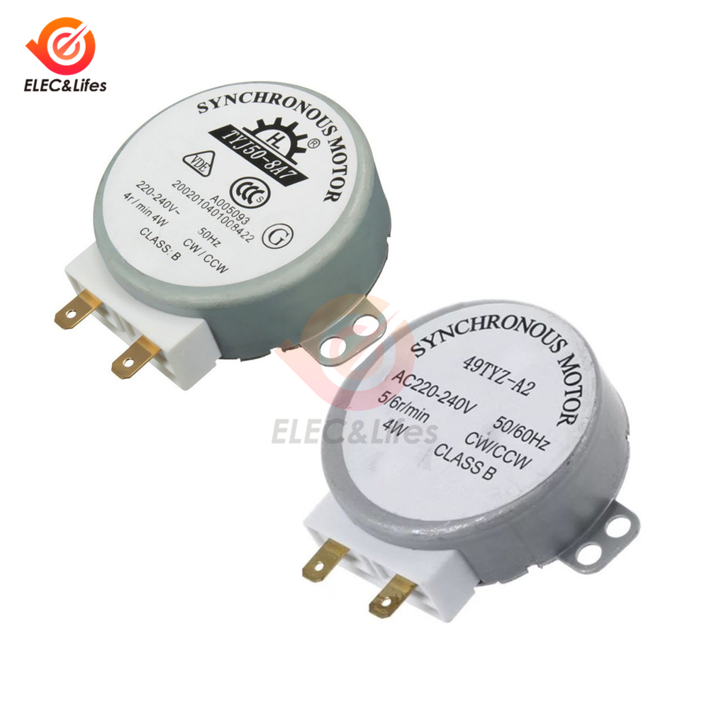 TYJ-50-8A7 AC 220V//240V CW//CCW 4W Microwave Oven Turn Table Synchronous Motor