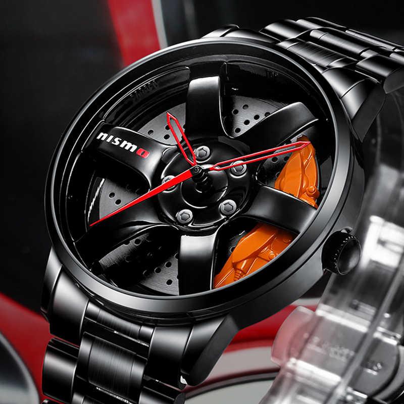 Nektom relógios de pulso masculinos quartzo, relógios esportivos para homens, relógios de carro e roda de pulso, relógios de homem, esportes à prova d' água relógio de pulso